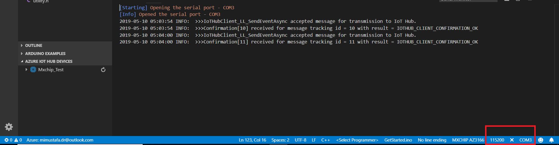 mx9 1 - Working with MxChip AZ3166 IoT DevKit-Part II