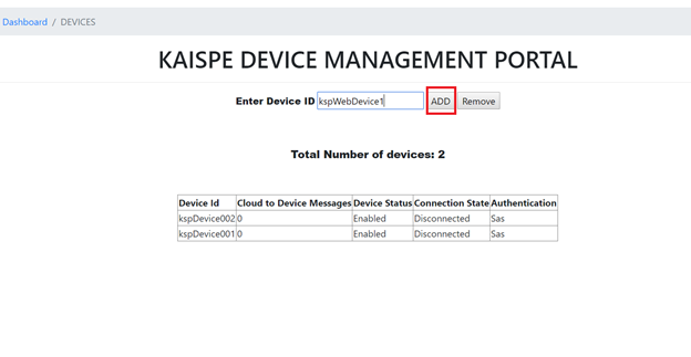 blog3 - Microsoft Azure IoT Device Management using .NET based Web Application
