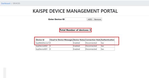 blog4 - Microsoft Azure IoT Device Management using .NET based Web Application