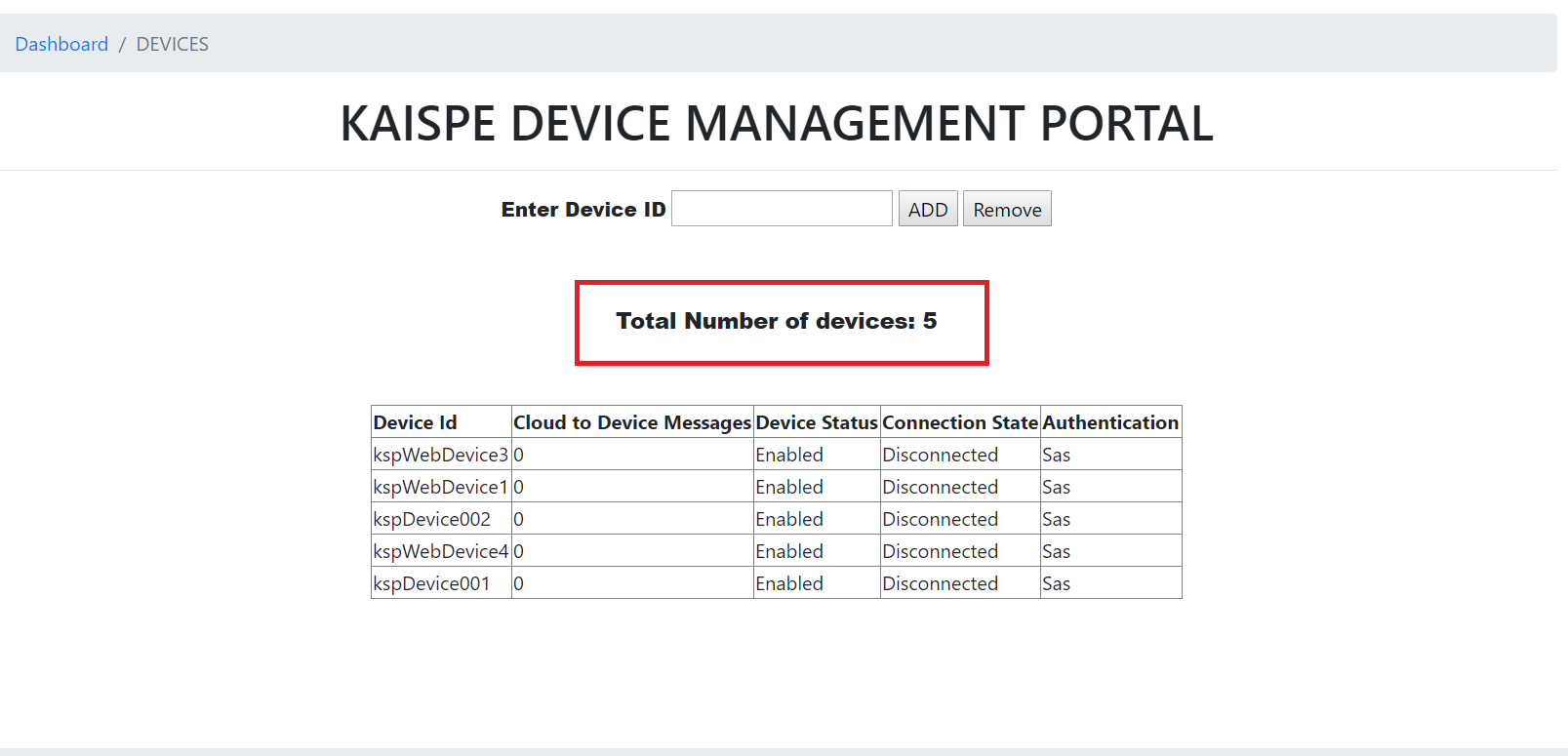 remove2 - Microsoft Azure IoT Device Management using .NET based Web Application