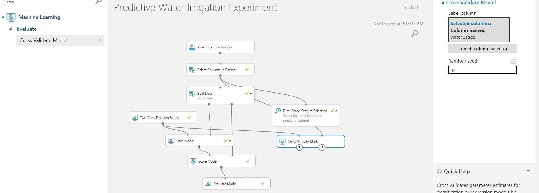 17 - Agriculture Water Irrigation - Predictive Analytics Using Microsoft Azure ML