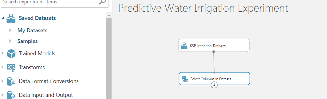 5 - Agriculture Water Irrigation - Predictive Analytics Using Microsoft Azure ML