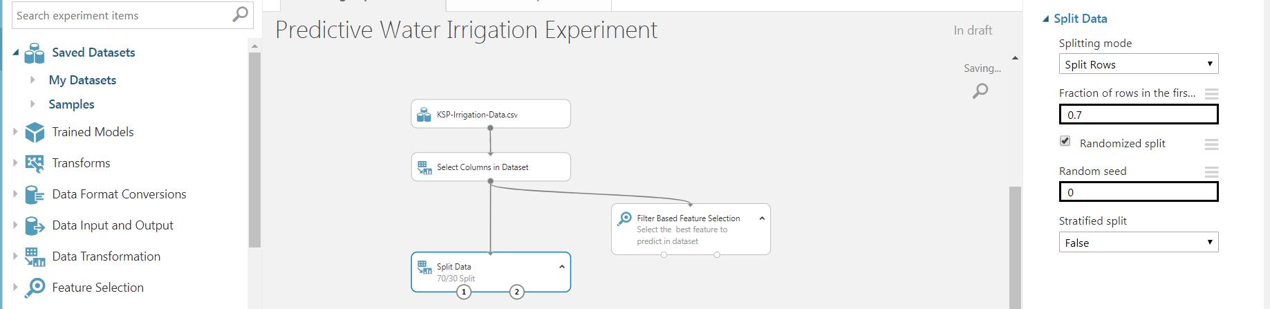 8 - Agriculture Water Irrigation - Predictive Analytics Using Microsoft Azure ML
