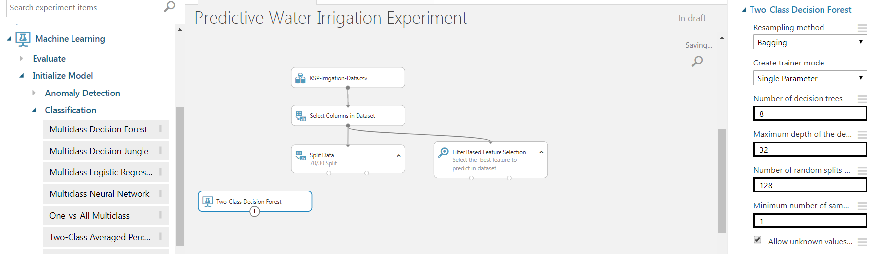 9 - Agriculture Water Irrigation - Predictive Analytics Using Microsoft Azure ML
