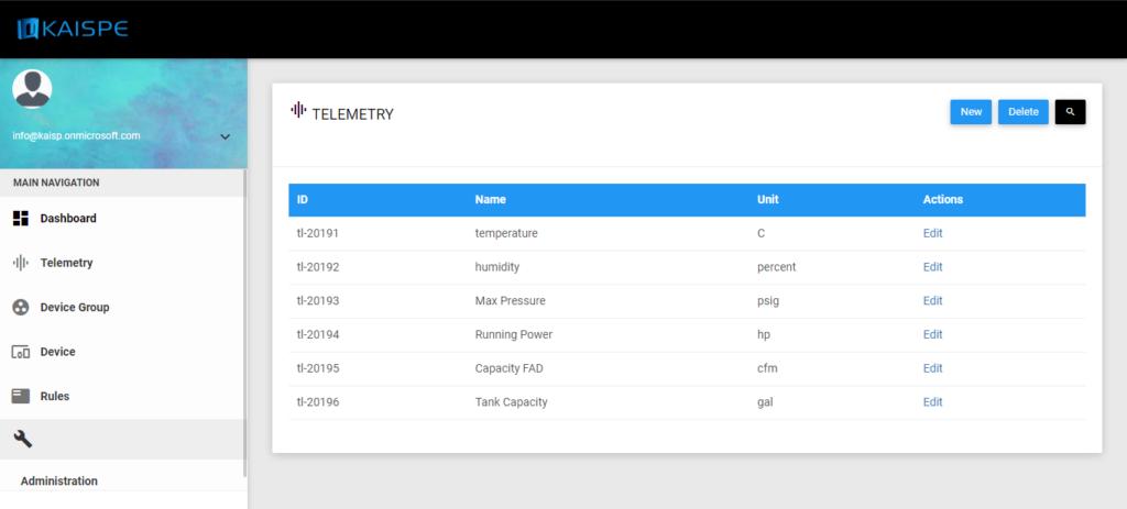 Telemetry 1024x463 - KAISPE Internet of Things (IoT) Portal