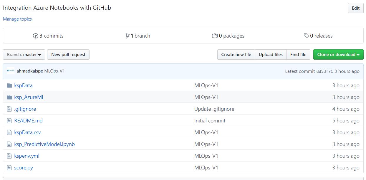 git 8 - Using Microsoft Azure Notebooks with GitHub