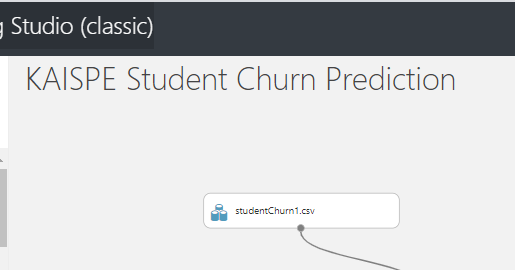 selectdataset 1 - Student Churn Prediction using Microsoft Azure Machine Learning