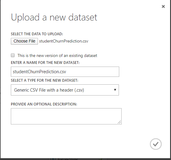 uploaddata - Student Churn Prediction using Microsoft Azure Machine Learning