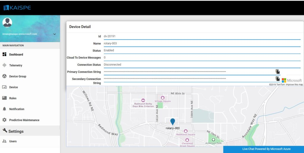 mapsSS 1024x515 - KAISPE IoT Portal now uses Microsoft Azure Maps for Asset Tracking