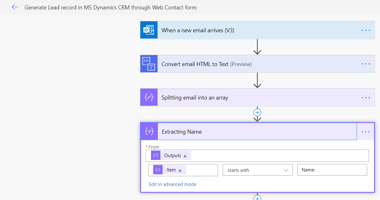 crmleadblog2 - Generate Lead record in Microsoft Dynamics CRM through Web Contact form using MS Power Automate